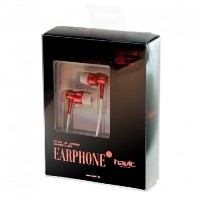 Наушники Havit earplug HV-006E, red